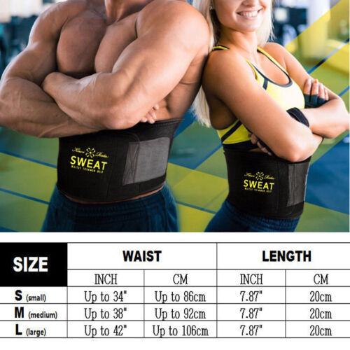 Men/&Women Slim Belly Compression Body Shaper Sweat Waist Trainer Sports Belts US