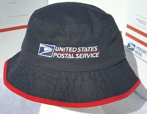 9a6353a6e1d USPS POSTAL BLACK   RED BUCKET HAT WITH POSTAL LOGO EMBROIDERED ON ...