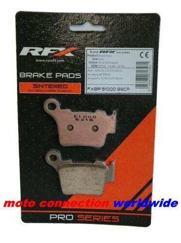 RFX KTM SXF250 2014 REAR BRAKE PADS PRO SERIES SINTERED COPPER BRAKE PADS 51000