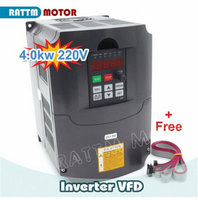 220 V 4 kW 5HP Variable Frequency Drive Inverter variateur 3 Phase Avec 2 m Câble d'extension
