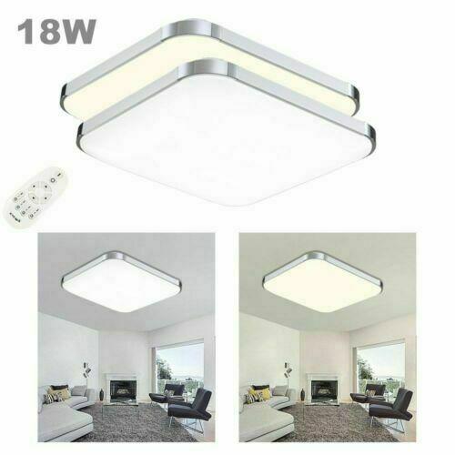 LED Deckenleuchte Badleuchte Wohnzimmer Küche 12-96W Deckenlampe Silber Flur