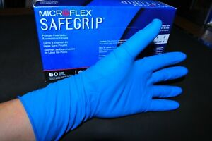 Extended cuff Disposable Size Large pack of 50 Exam Grade Microflex Synetron Latex Gloves