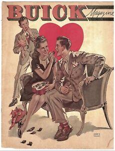 Vintage-Feb-1947-Buick-Magazine-Automobile-Dealership-Giveaway-U-S-Travel-Etc
