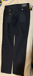 Emporio Armani J23 stretch-denim jeans DARK BLUE Size: 30 Selfridges Rrp 140