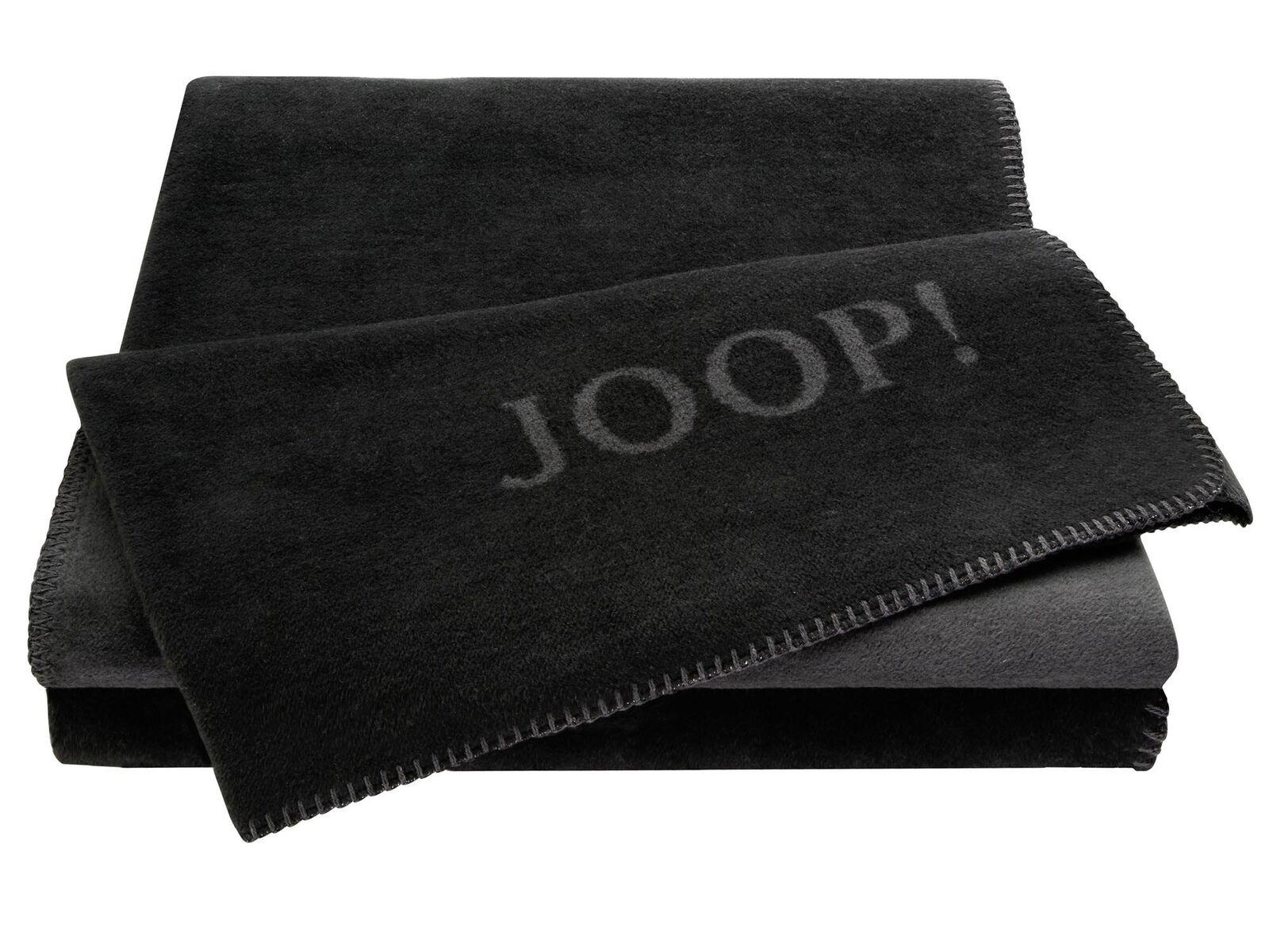 JOOP!-Wohndecke schwarz-anthrazit