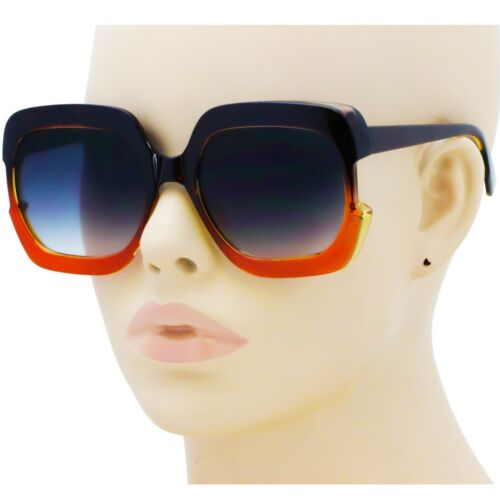 Large Vintage Square Cat Eye Fashion Oversized Women Sunglasses Thick Frame