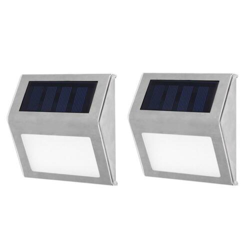 Stainless Steel 3LED Solar Stair Lights Outdoor Courtyard Pathway Street Lamps