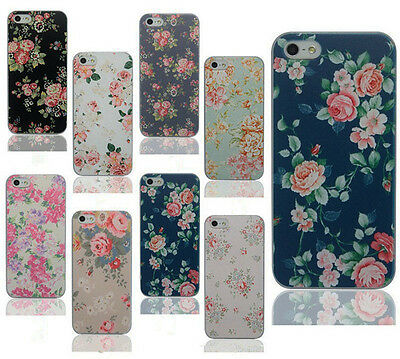 For Apple Iphone4 5S 6 Plus Various Flower Pattern PC Hard Case Cover Back Skin