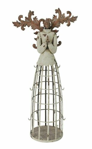 """23/"""" Tall Metal Angel Rustic Home Decor Antiqued Sculpture Statue NEW"""