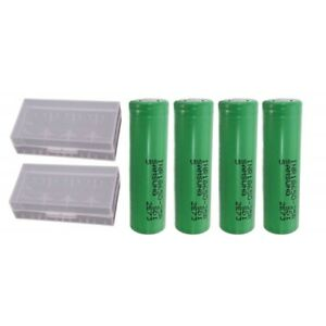 Samsung-INR18650-25R-2500-mAh-3-6-V-Rechargeable-Battery-Pack-of-4-Case
