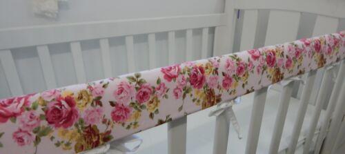 Floral Cot Rail Cover English Brambley Rose Crib Teething Pad x 1