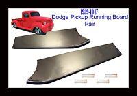 1939 1940 1941 1942 1946 1947 Dodge Pickup Truck 1/2 Ton Steel Running Board Set