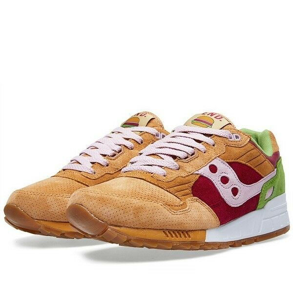 END x Saucony Shadow 5000 'Burger' Light Brown Red Green 70142 1