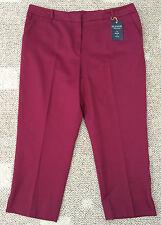 * Zac & Rachel Womens Plus Size 20W Wine (burgundy) Slim Ankle Pants Washable