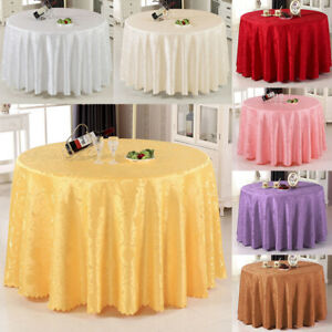 Round-Jacquard-Table-Cloth-Table-Cover-Kitchen-Dinning-Wedding-Party-Tablecloth