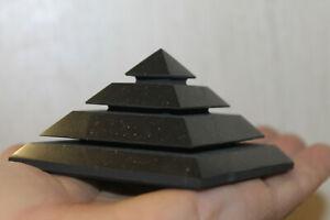 "shungite polished pyramid Saqqara 70 mm (2.76"") Karelia Russia"