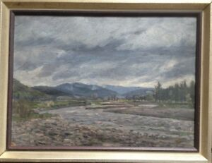 Storm-Landscape-River-Bed-Middle-Mountains-Alps-Oil-Painting-on-Canvas