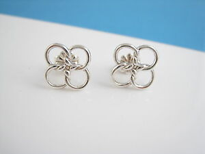 32eedaa31 Image is loading Tiffany-amp-Co-Elsa-Peretti-Flower-Quadrifoglio-Earrings