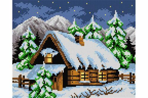 Tapiz Lona nevado Hut 24X30cm 2218H