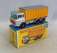 Lesney Matchbox Toys MB47c DAF Volquete Camión de plata
