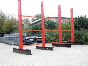 Kragarmregal Langgutregal Ständer Höhe 5.200 mm Kragarmlast: 800 kg
