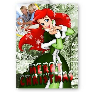 Christmas Princess.Details About Disney Princess Ariel Merry Christmas Personalsied A5 Card With Red Envelope