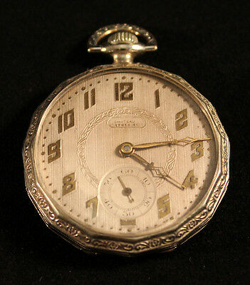 Solomax Watch Co. Conscientious Chateau Cadillac Pocket Watch Jewelry & Watches Antique