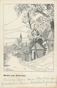 Nr-17419-Kuenstler-Schmoller-PK-Attersee-am-Attersee-O-O