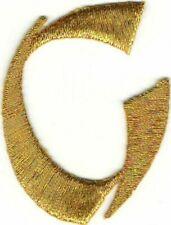 4.8cm Hell Metallisch Gold Monogramm Block Brief ein Bestickt Patch