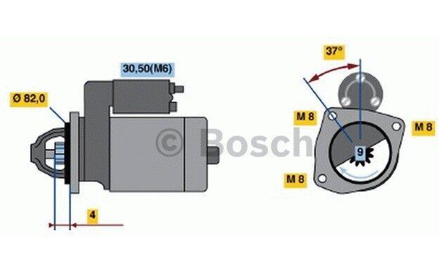 BOSCH Motor de arranque 2,5kW 12V PEUGEOT BOXER CITROEN JUMPER 0 986 021 640