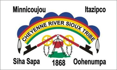 Cheyenne river size 90х150 cm Free shipping NEW Flag of the Sioux nation tribe