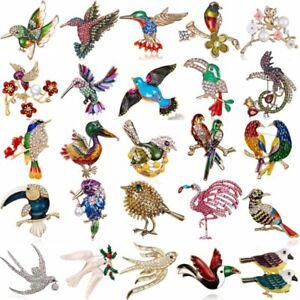 Fashion-Brooch-Pin-Animal-Bird-Crystal-Pearl-Enamel-Women-Wedding-Jewelry-Gift