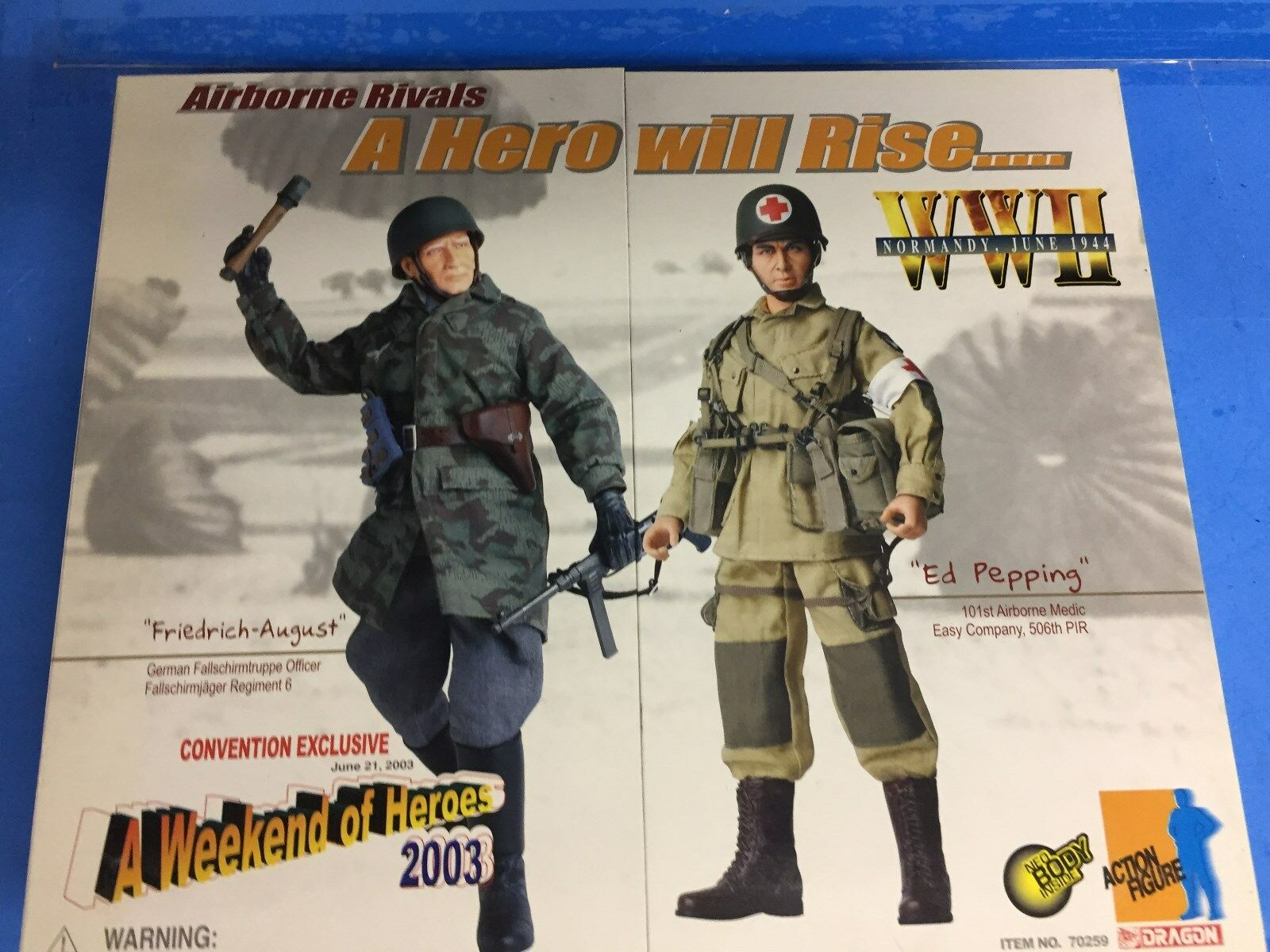 DRAGON 2003 Convention Exclusive Airborne Rivals WW II Action Figure New In Box
