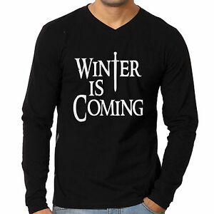 Vneck-Tshirts-Winter-is-coming-Full-sleeve-tees