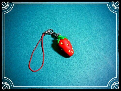 ** ~ ~ dangler fraise mignon fimo Téléphone Charme ~ **