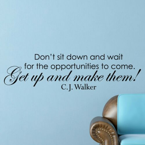 C.J Walker INSPIRATIONAL MOTIVATIONAL Wall Decal Art Quote Home Office Decor
