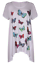 Plus-Size-Ladies-Short-Sleeve-Butterfly-Print-Dip-Hanky-Hem-Casual-T-Shirt-Top thumbnail 12