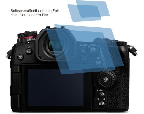 4x Panasonic Lumix dc-g9 recubrimiento protector protector de pantalla cc protector de pantalla
