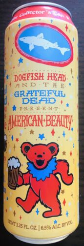 Jerry Garcia Last One! Grateful Dead /& Dogfish Head American Beauty Beer Can