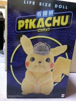 Detective Pikachu Life Size Plush Pokemon 40cm Limited Edition
