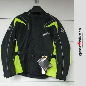 Buffalo Hurricane Neon Yellow Textile Motorcycle Jacket Commuter Touring Scooter