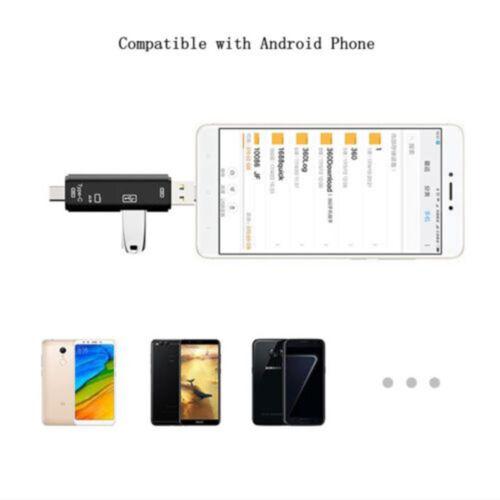 Multi-function USB OTG to USB 2.0 Memory Card Reader For TYPE-C  Mobile Phone