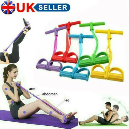 Multi Function Tension Rope Gym Fitness Foot Pedal Exerciser Rope Pull Band UK