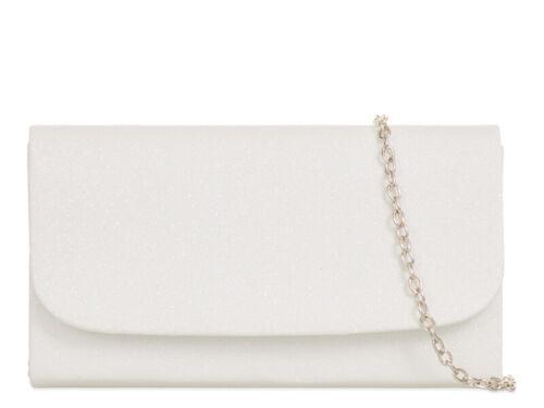 Women/'s Clutch Bag Glitter Wedding Evening Handbag H731