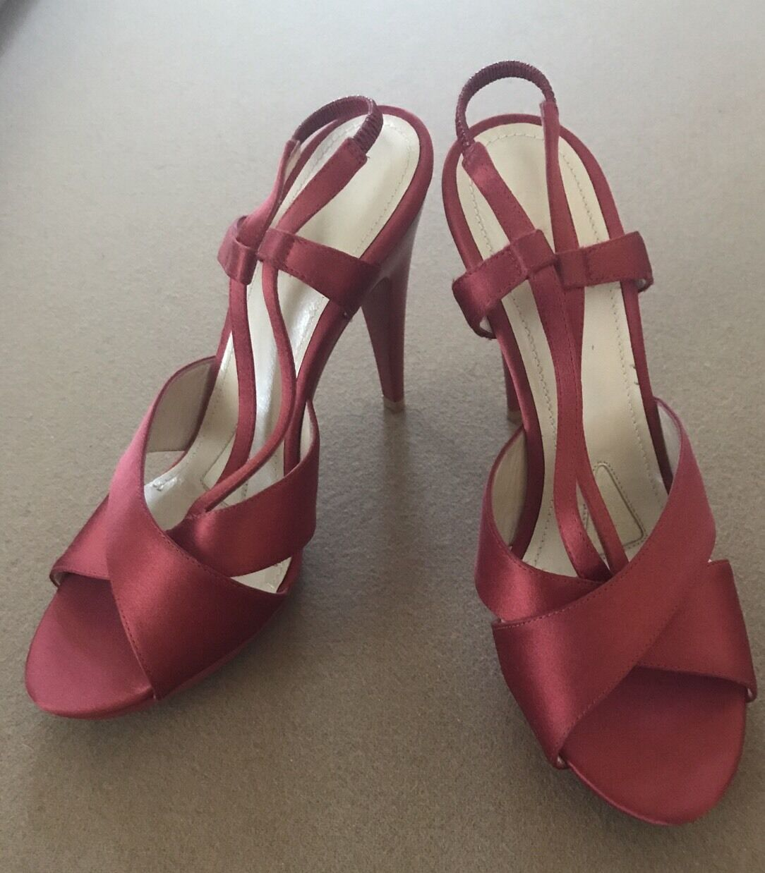 Jil Sander chaussures rouge Satin Pumps New Taille 36