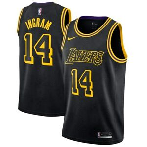 2018 Nike NBA Los Angeles Lakers Brandon Ingram 14 Swingman City ... 2a6d06267