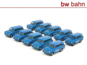Herpa-H0-1-87-Trabant-Trabi-601-Kombi-Landis-amp-Gyr-10-Stueck