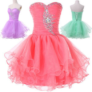 Short Bridesmaid Homecoming Graduation Formal Gown Ball Party Evening Prom Dress