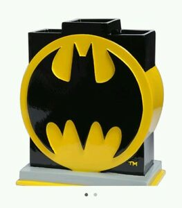 Image Is Loading DC Comics Batman Bathroom Toothbrush Holder Decor Logo