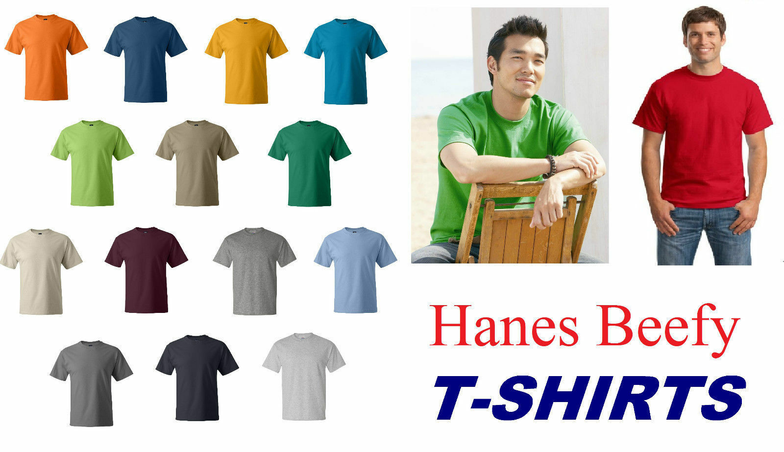 10,20,25 Hanes ComfortSoft Heavyweight Cotton T-Shirt 5280 S-4XL WHOLESALE